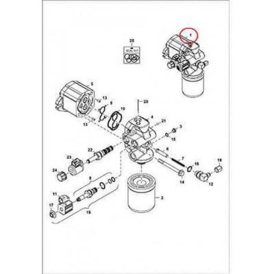 7311215 Гидромотор вентилятора Bobcat