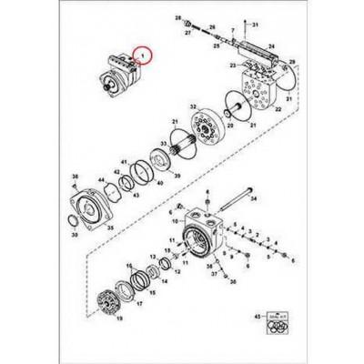 7312928 Гидромотор ходу Bobcat