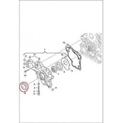 6680680 Сальник кришки передньої Bobcat