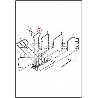 6655219 Трубка паливна високого тиску №1 Bobcat