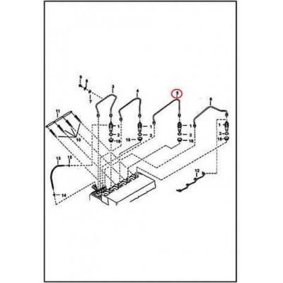 6655221 Трубка паливна високого тиску №3 Bobcat