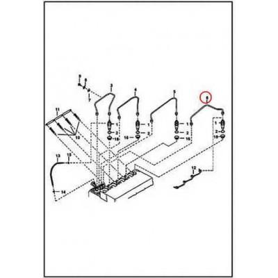 6655222 Трубка паливна високого тиску №4 Bobcat